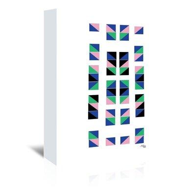 Cabrini Geometric Tracks Graphic Art on Wrapped Canvas