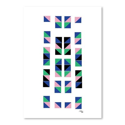 Cabrini Geometric Tracks Graphic Art