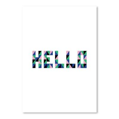 Cabrini Hello Geo Textual Art