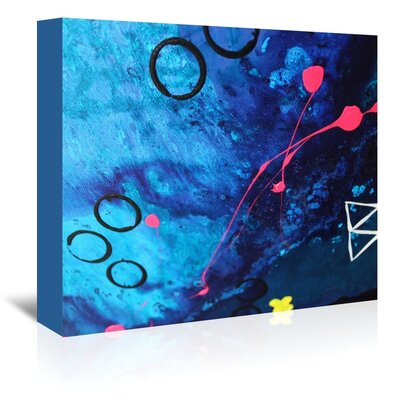 XO Splatter Painting Print on Wrapped Canvas Size: 11