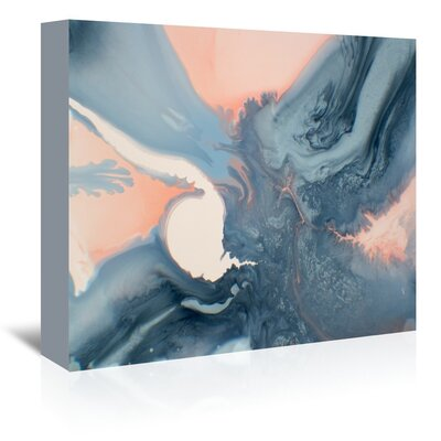 Marble Mineral Painting Print on Wrapped Canvas