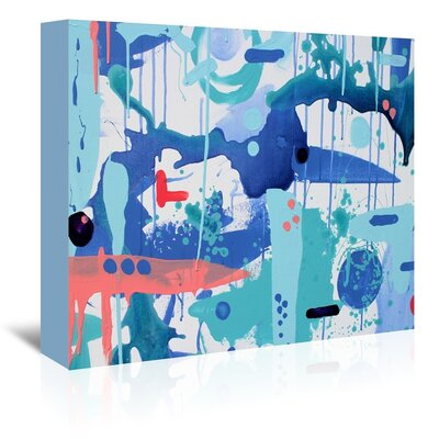 Abstract Drips Painting Print on Wrapped Canvas Size: 11