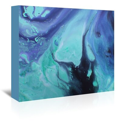 Dark Marble Painting Print on Wrapped Canvas Size: 11