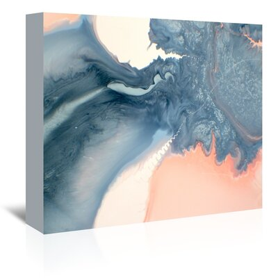 Marble Squiggle Painting Print on Wrapped Canvas Size: 11