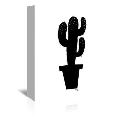 Cabrini Cactus on Silhouette Graphic Art on Wrapped Canvas