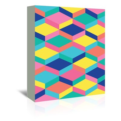 Cabrini Candy Stairs Graphic Art on Wrapped Canvas