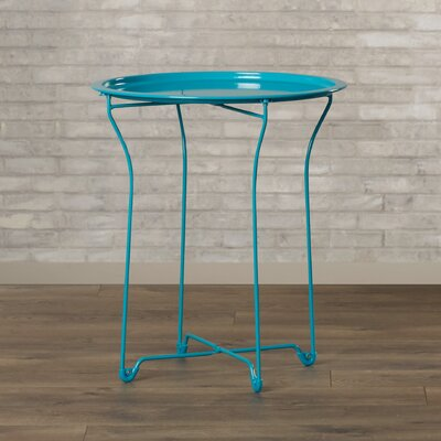 Sims Metal Tray End Table Finish: Capri Breeze