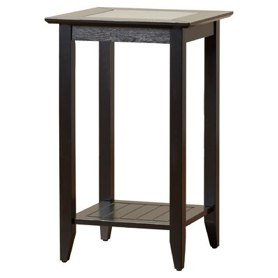 Melrose End Table Color: Black