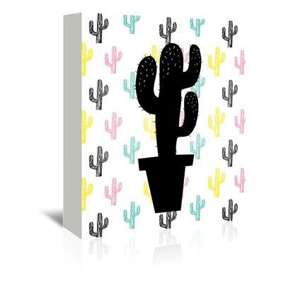 Cabrini Cactus on Cactus Graphic Art on Wrapped Canvas