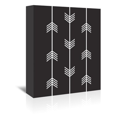 Beckett Three Tribal Arrows Graphic Art on Wrapped Canvas Size: 14