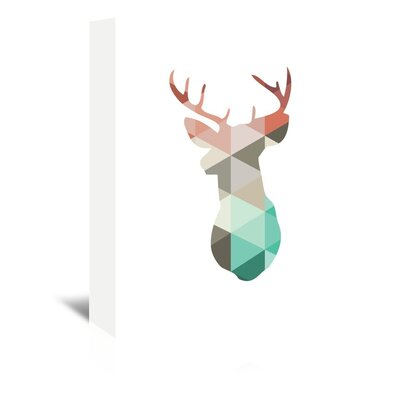 Beckett Spring Deer Graphic Art on Wrapped Canvas Size: 14