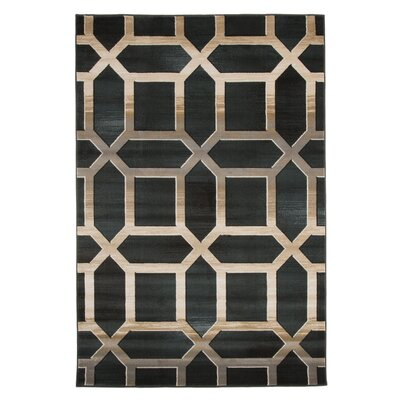 Flushing Teal Area Rug Rug Size: 53 x 77