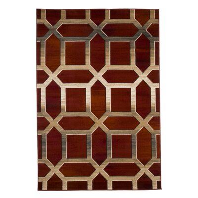 Flushing Burgundy Area Rug Rug Size: Rectangle 33 x 5