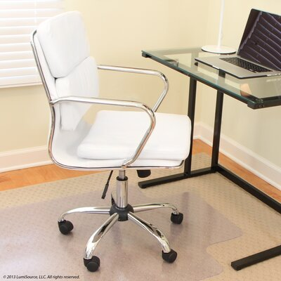 Kendall Leather Desk Chair Upholstery: White