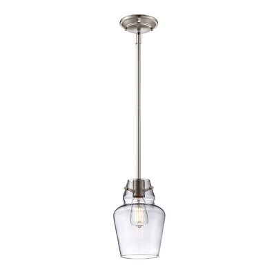 Roslindale 1-Light Mini Pendant Finish: Satin Nickel