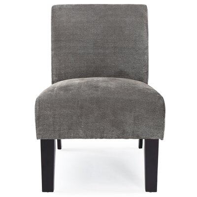 Arrandale Solid Slipper Chair Upholstery: Gray