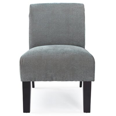 Arrandale Solid Slipper Chair Upholstery: Blue