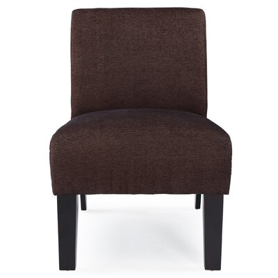 Arrandale Solid Slipper Chair Upholstery: Brown