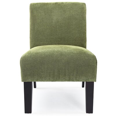 Arrandale Solid Slipper Chair Upholstery: Green