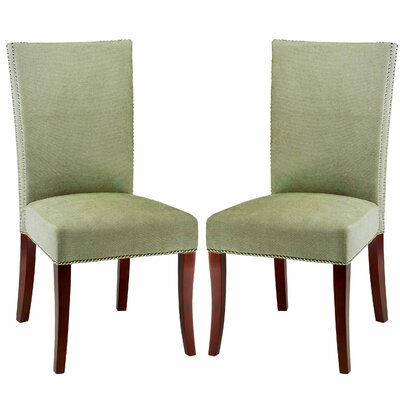 Glenmore Side Chair Set Of 2 in Polyester - Green