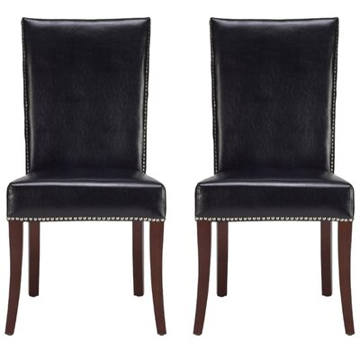 Glenmore Upholstered Dining Chair Color: Black