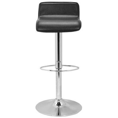 Sepviva Adjustable Height Swivel Bar Stool Upholstery: Black
