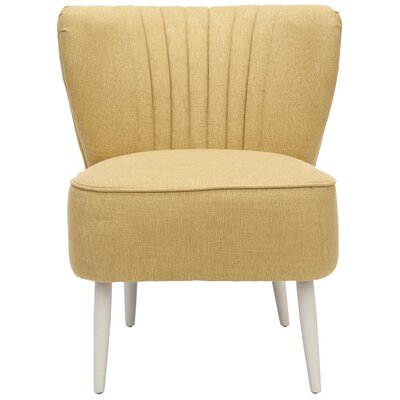 Gelston Striped Fabric Slipper Chair