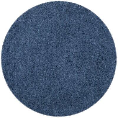 Van Horne Blue Area Rug Rug Size: Round 67 x 67