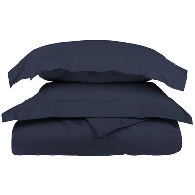 3 Piece Duvet Cover Set Size: Full / Queen, Color: Navy Blue