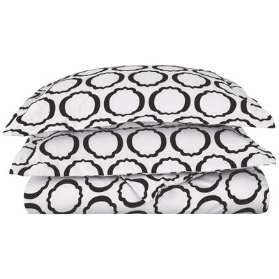 Seagraves Reversible Duvet Cover Set Color: White/Black, Size: Twin