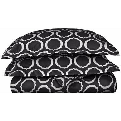 Seagraves Reversible Duvet Cover Set Color: Black/White, Size: King/California King