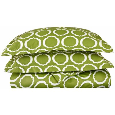 Seagraves Reversible Duvet Cover Set Size: Full/Queen, Color: Green/White