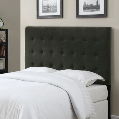 Middle Village Upholstered Panel Headboard Size: Full / Queen, Upholstery: Navy Blue