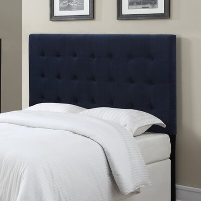 Middle Village Upholstered Panel Headboard Upholstery: Navy Blue, Size: King / California King
