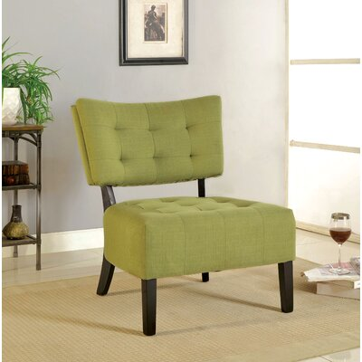 Van Reipen Slipper Chair Upholstery: Green
