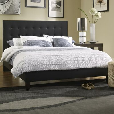 Tysen Upholstered Platform Bed Size: Full, Color: Black