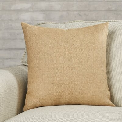 Portsmouth Solid Burlap Throw Pillow Color: Taupe, Size: 20 H x  20 W