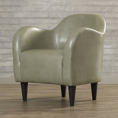 Potts Barrel Chair Upholstery: Dove Faux Leather