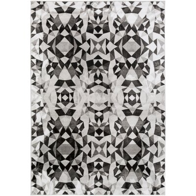 Artesian Charcoal/Light Gray Area Rug Rug Size: 39 x 52