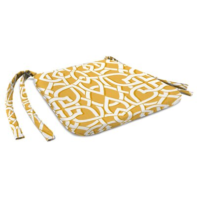 Outdoor Dining Chair Cushion Fabric: Greystone Daffodil