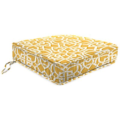 Outdoor Lounge Chair Cushion Fabric: Greystone Daffodil