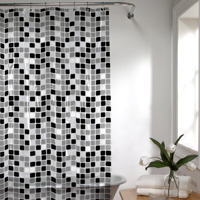 Roumfort Vinyl Shower Curtain Color: Black