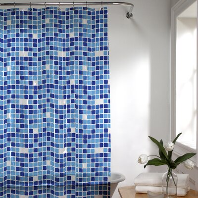 Roumfort Vinyl Shower Curtain Color: Blue