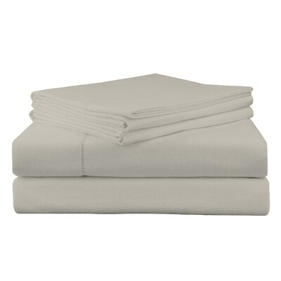 Adriel Flannel Sheet Set Size: Twin, Color: Silver Gray
