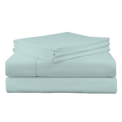Adriel Flannel Sheet Set Color: Lagoon, Size: Twin