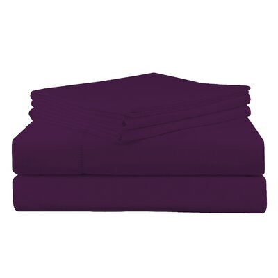 Adriel Flannel Sheet Set Size: Full, Color: Plum