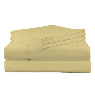 Adriel Flannel Sheet Set Size: Full, Color: Straw