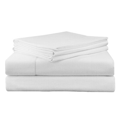 Adriel Flannel Sheet Set Size: Full, Color: Snow White