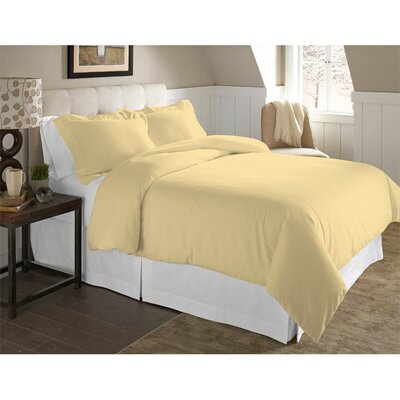 Adriel 3 Piece Duvet Cover Set Size: Full/Queen, Color: Straw