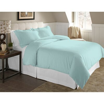 Adriel 3 Piece Duvet Cover Set Color: Lagoon, Size: King/California King